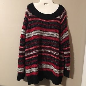 Chaps oversized chunky knit crew neck sweater